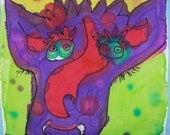 whimsical Monster  painting