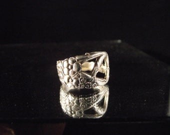Sterling Silver Spoon Ring - Tree Branches OOAK