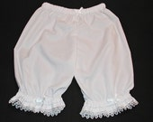 White  Lacy Hearts Ruffled Bloomers Size 12 Months