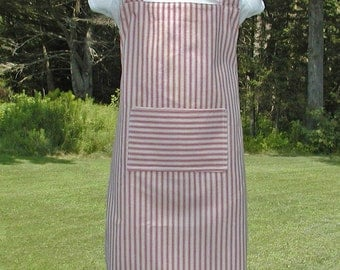 Girl's Red Striped Reversible Apron