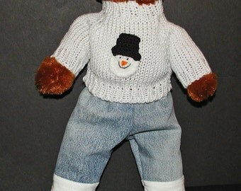 15 Inch Doll or Bear Snowman Outfit