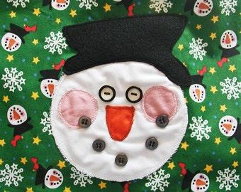 Girl's Reversible Snowman Apron