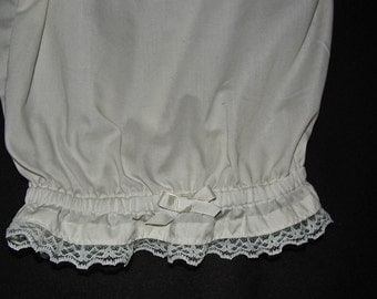 Ladies Cream Ruffled Bloomers Size X/L