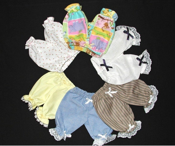 "Dainty Pantaloons for 18"" Dolls"