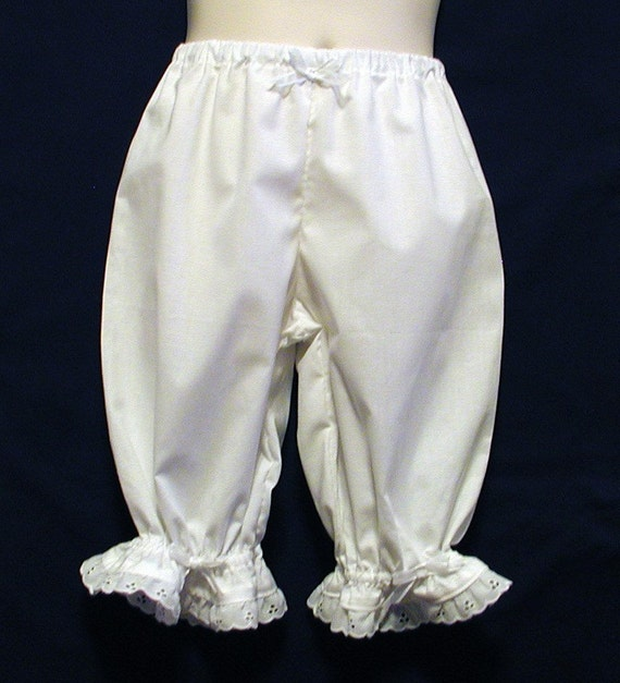 Pantaloons with White Lacy Ruffles Girls Size 4 / 5