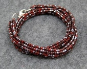 AS SEEN IN Beaded Wrap Bracelet Necklace - Maroon Red Brown by randomcreative on Etsy