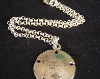sterling silver Sand Dollar bracelet/anklet