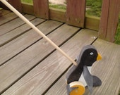 Wooden Old Fashion PENQUIN PUSH TOY (Flapper toys)