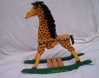 wooden rocking giraffe