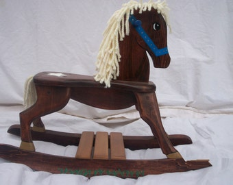 Handmade Sheriff/Star Wooden Rocking Horse