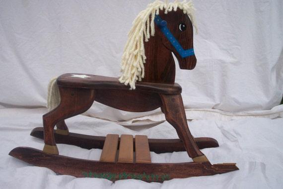 Handmade Sheriff/Star Wooden Rocking Horse
