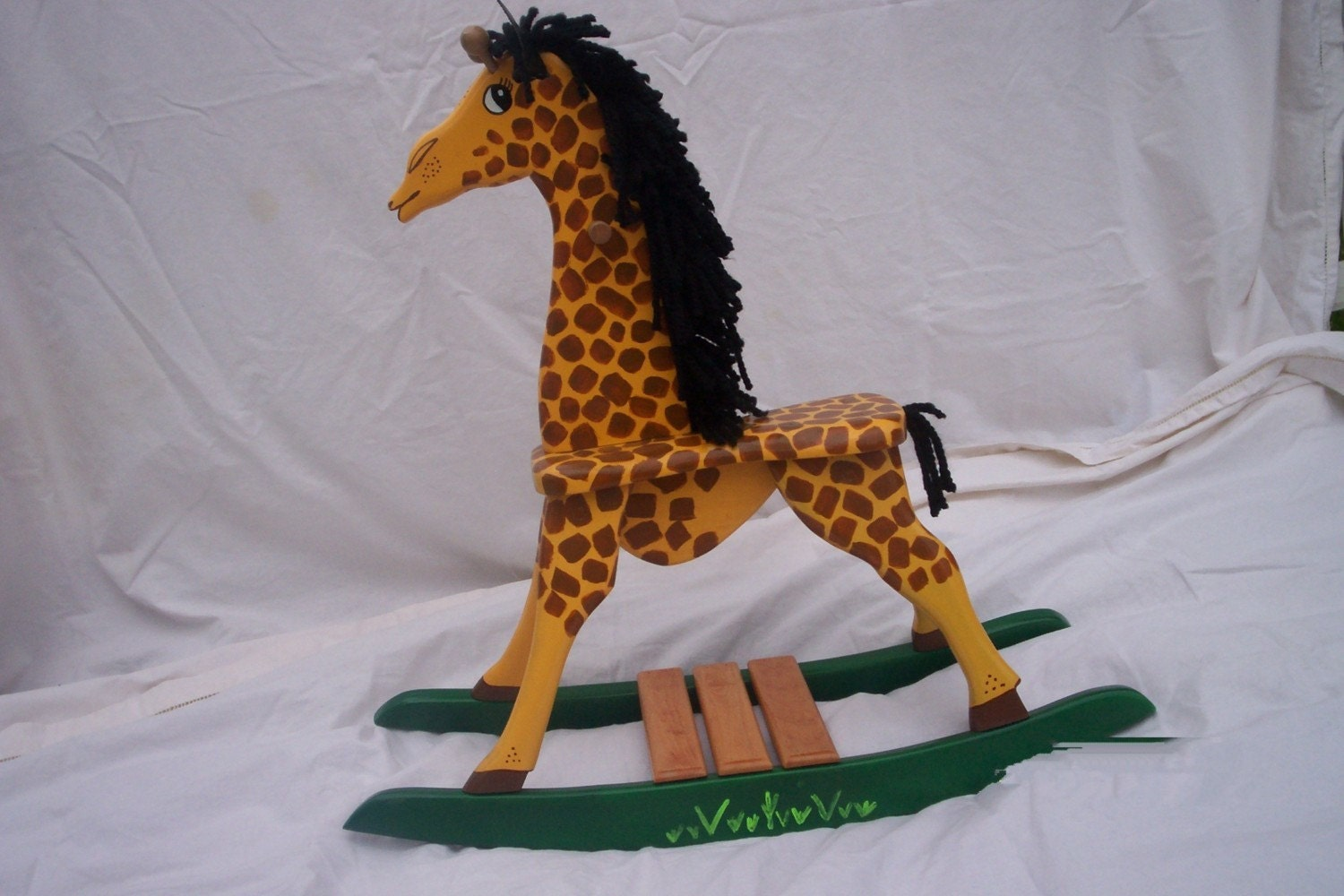 Superb img of wooden rocking horse or giraffe by RMDCreations on Etsy with #A66C25 color and 1500x1000 pixels