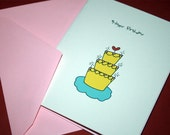 4 Birthday Cards (Heart Cake)