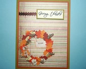Autumn Wreath Thanksgiving Card