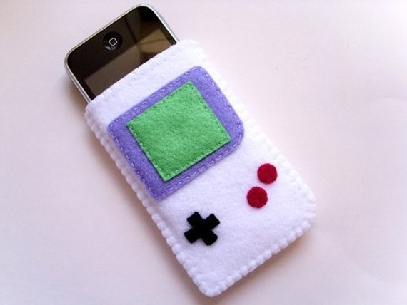 Gameboy iPod \/ iPhone \/ iTouch Case (white)