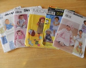 5 Baby Clothes Sewing Patterns Size A- Rompers, jumpsuits, dresses, pants, pinafores