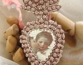 the kiss - a valentine's ex-voto paper locket