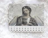 Saint Marguerite my guardian angel - elegant paper lace art tags