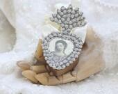 delight in thy beauty - a paper ex-voto locket