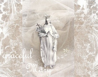 graceful Mary - a religious paper doll