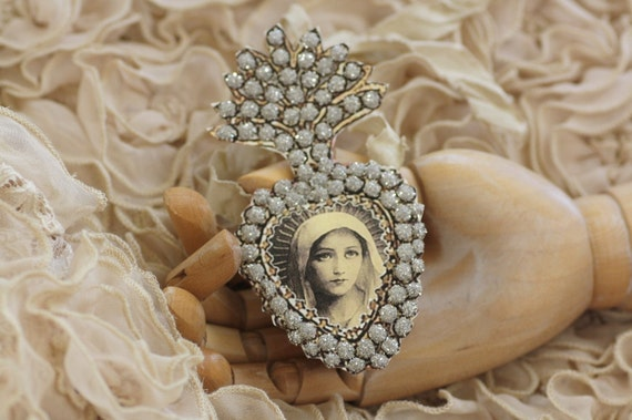 Adored One - a paper ex voto locket