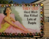 """Gift Box/ Matchbox With Sassy Message from 1950's Lady: """"They Lied"""" FREE SHIPPING"""