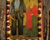 """Matchbox Art: Frida Kahlo's  """"Frida and Diego"""" FREE SHIPPING"""