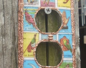 Outlet Faceplate Featuring Mexican Loteria Images  FREE Shipping