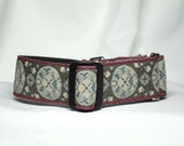 Tapestry Circles martingale dog collar - large