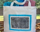 Cat Sleeping Canvas Tote Bag