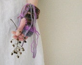 ophelia. knit fingerless gloves natural fibers eco fall fashion romantic fairy tale bohemian gauntlets winter accessories hand warmers