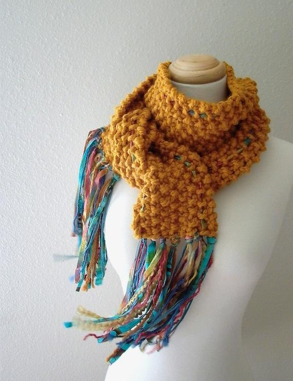Reserved for kkhelder . Indian Summer . handknit scarf