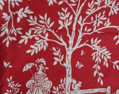Rare Vintage Tablecloth Napkins People Trees Animals