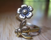 Bee and Blossom Ring