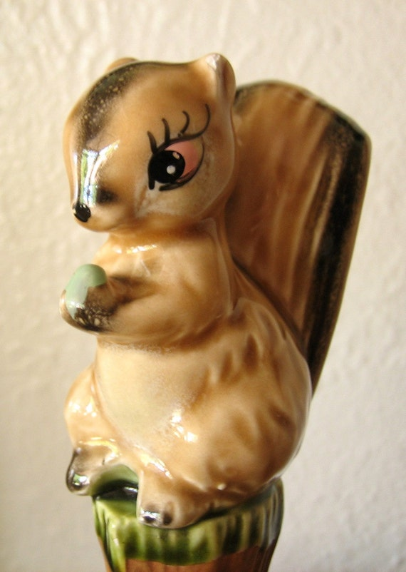 Vintage Squirrel Candle Holder
