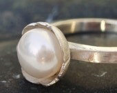 Matching Band Pearl Buttercup Ring Reserved for Ginger7997