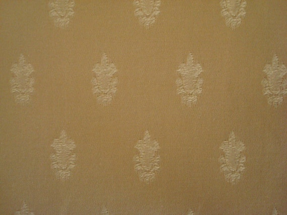 Cotton Upholstery Fabric, Royal Design, Pale Yellow Light Yellow Gold