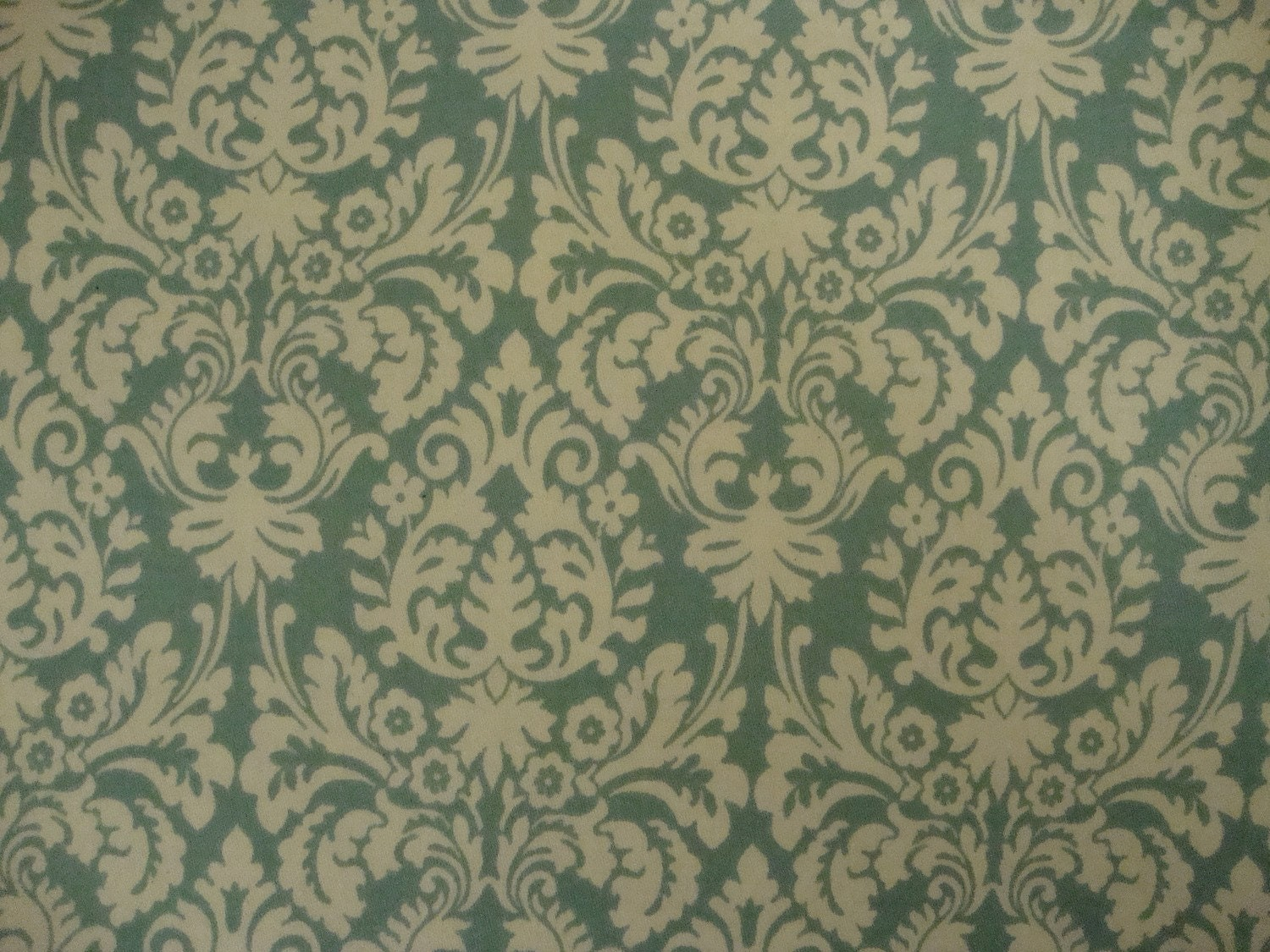 upholstery fabric teal and cream baroque by thedesignerstouch