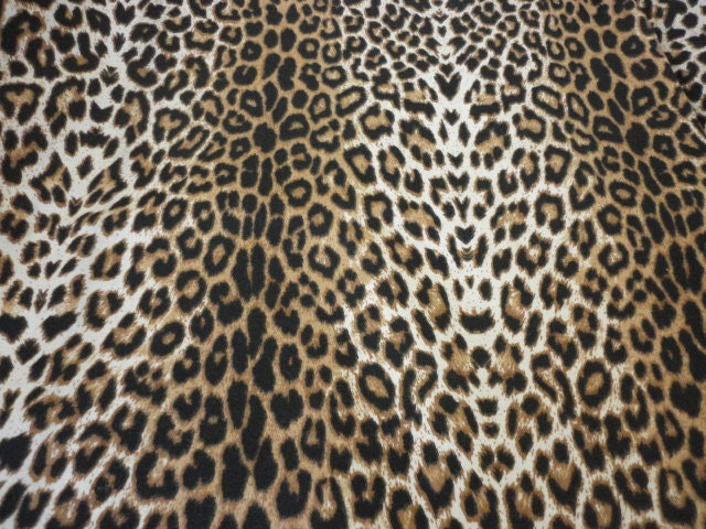 Cotton Upholstery Fabric Leopard Animal Print By