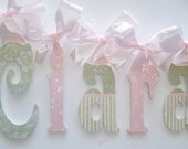 Decorative Wall Letters Wall Decor Wooden Wall Hanging Painted Wooden Letters GLITTER LETTERS