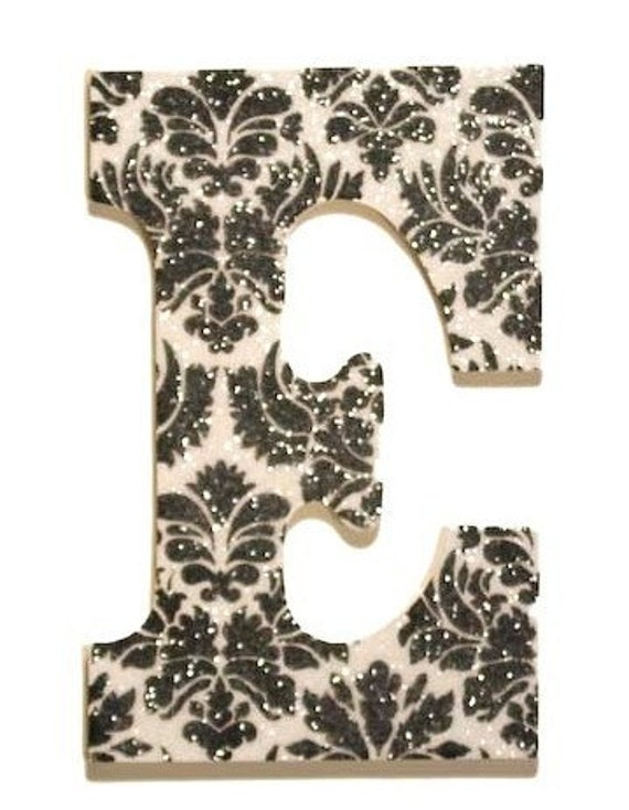 Hand painted glitter wall letters custom by acharmedlifeinc for Wall letter designs