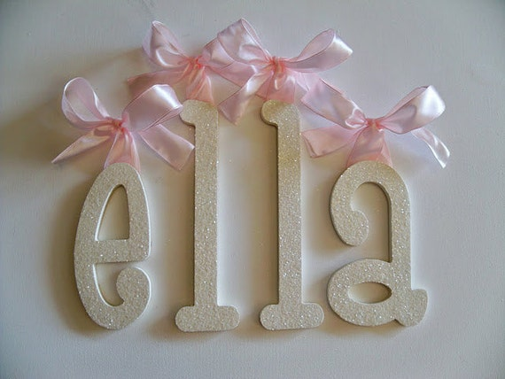Glitter And Sparkle  Decorative Wall Letters