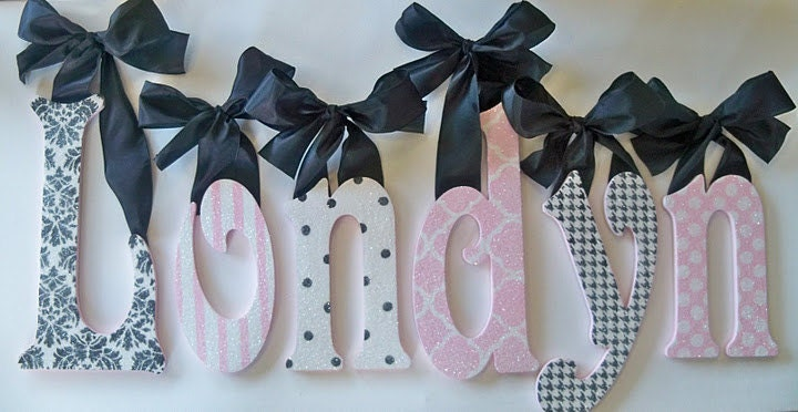 Hanging Wall Letters Simple Custom Nursery Lettersglitter And Sparklehanging Wall Design Ideas