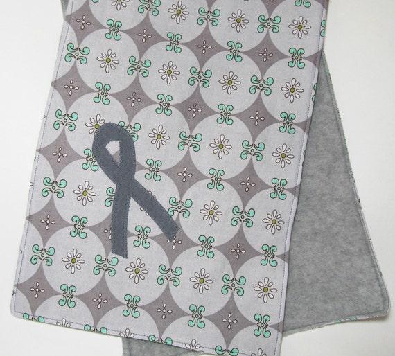 Brain Cancer Awareness Gray Ribbon Scarf