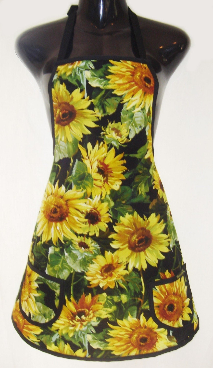 Ladies Classic Apron Sunflowers Sale