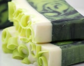 Coconut Lime Soap Handmade Cold Process, Vegan Friendly