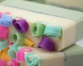 Kiwi Garden Soap Handmade Cold Process, Vegan Friendly