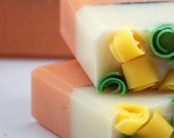 Mango Apple Soap Handmade Cold Process, Vegan Friendly