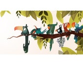 Bird Branch Print