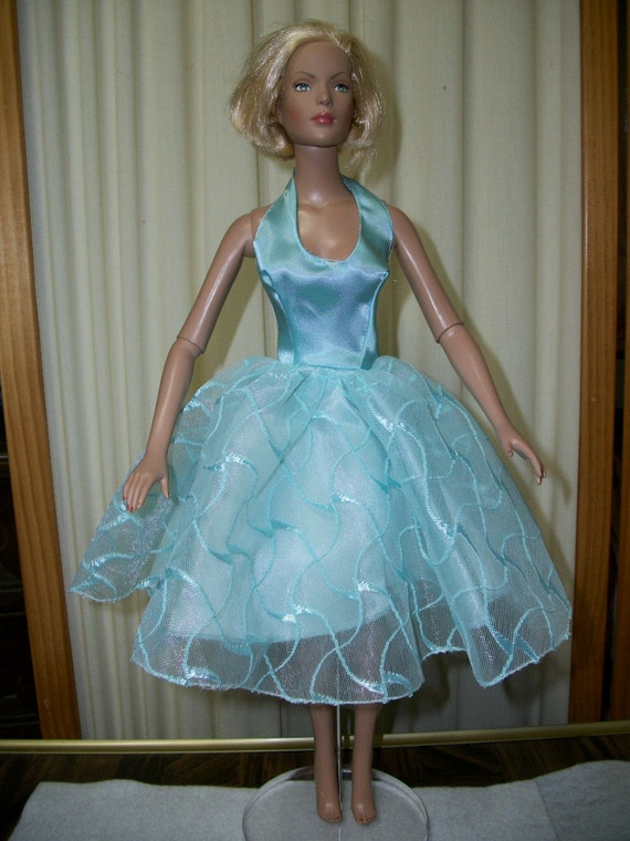 OOAk Blue Satin Gown for Tyler Wentworth, Gene Marshall